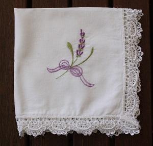 Handkerchief - Lavender Tucks