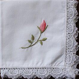 Handkerchief - Rosebud Tucks