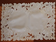 Lace - La Rose Blanche - Placemat - Oblong