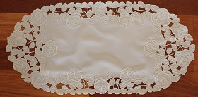 Lace - La Rose Blanche - Runner - Oval