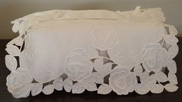 Tissue Box Cover - La Rose Blanche