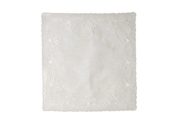 Handkerchief - Hearts Embroidery