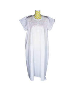 Short Sleeved Nightgown - Pink Smocking - Now Available in Sizes L/XL & XL/XXL