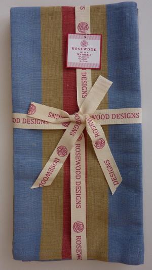 Kitchen - Tea Towel - Yarn Dye Centre Stripe - Set of Three