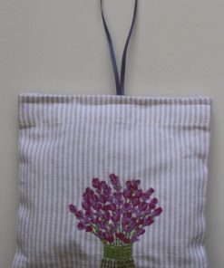 Lavender Bouquet Embroidered Sachet (Filled) 14x14cm