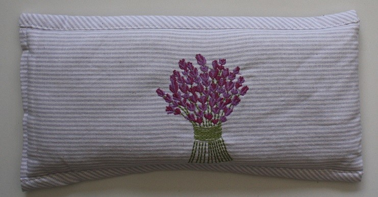 Lavender Bouquet Embroidered Heat Pillow (Filled) 30x14 cm