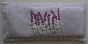 Lavender Embroidered Heat Pillow (Filled) 30x14 cm