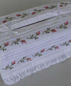 Tissue Box Cover - Rosebud Tucks