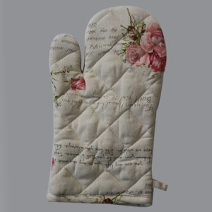 Single Oven Mitt - Love Letters