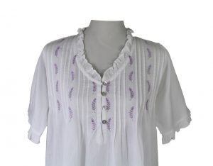 Night Gown - Lavender Tucks - Now Available in Sizes L/XL & XL/XXL