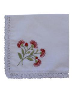 Embroidered Handkerchief - Flowering Gum (Single)