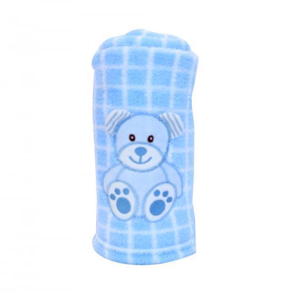 Blanket Buddies - Teddy on Blue Checks