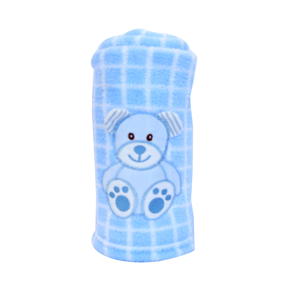 Blanket Buddies - Teddy on Blue Checks