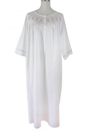 Sweet Dreams 3/4 Sleeve Nightgown - Rosebud Tucks