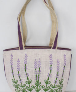 Embroidered Jute Bags With Zip
