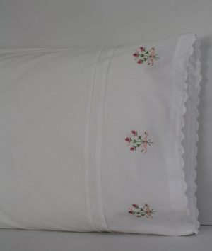 Pillow Case Embroidered